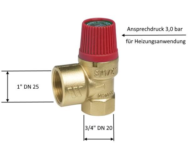 Watts Membran Sicherheitsventil DN 20 3 bar