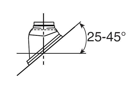 Schrägdachpfanne DN125 25-45 schwarz Nr. 05-10-51773