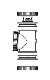 Revisions-T-Stück für Flexrohr DN80