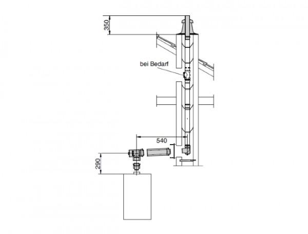 Giersch Abgasbausatz PP2.4 DN110/160 110 im Schacht, RU