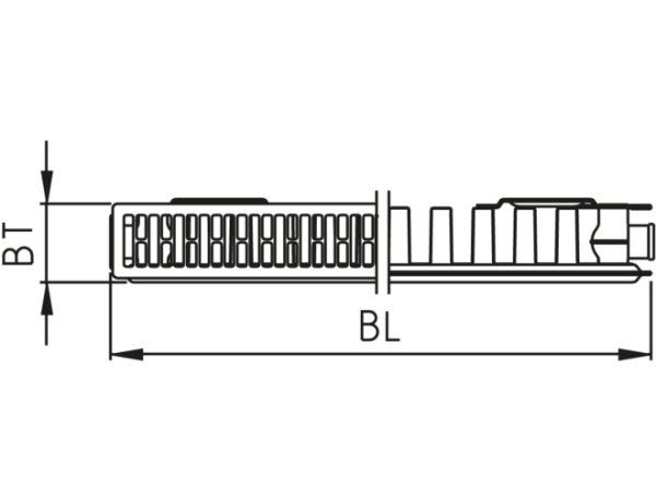 Kermi Profil-K FK0 11 EKc 600 x 2000