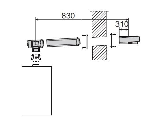 Giersch Abgasbausatz PP7.0 DN60-100 Außenwand